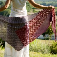 Teroldego Shawl by Caitlin Hunter