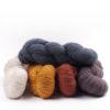 mYak Tibetan Cloud Wool Skeins Salice Grigio Wild Daisy Calendula Cannella Passiflora