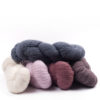 mYak Tibetan Cloud Wool Skeins Salice Grigio Wild Daisy Cherry Blossom Peony Passiflora